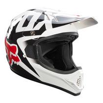Capacete Moto Cross Fox Vf1 Race Branco Tam 58