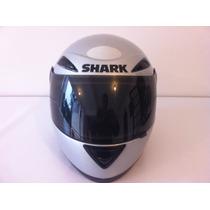 Baixou Capacete Shark S500 Fusion Usado Nro 56 Viseira Fumê