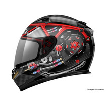 Capacete Mt Blade Monster Engine Carbon Tam:57-58