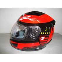 Capacete Flamengo Df2 Helmet 2012 Com Selo Do Inmetro Mengo