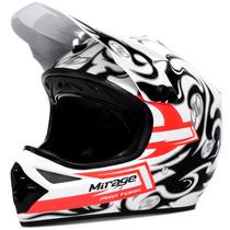 Capacete Moto Cross Pro Tork Mirage Trilha Branco E Preto 56