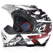 Capacete Motocross Pro Tork Th1 Eletric Marron Trilha Enduro