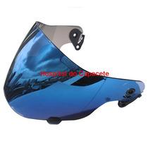 Viseira Ebf E06 Motard Azul Iridium