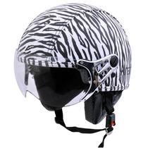 Capacete Feminino Kraft Zebra Scooter Harley Drag Shadow