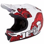 Capacete Motocross Jett Veneno Branco / Vermelho