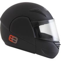 Capacete Ebf E8 Articulado Robocop Preto/chumbo/preto Fosco