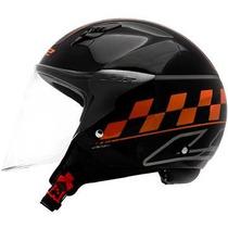 Capacete Ls2 Of559 Cafe Racer (preto/laranja)