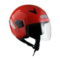 Capacete Aberto Motoqueiro Texx Gama - Vermelho Tam: 56 Ls2