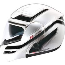 Capacete Zeus Escamoteavel 3000a Gg17 - White/dark/silver
