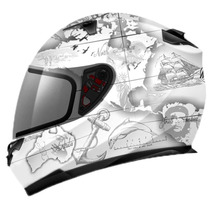 Capacete Mt Helmets Blade Global Adventure Branco - 61/62