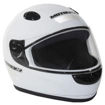 Capacete Motosky Basic Branco Motoqueiro C/ Viseira Tam: 58