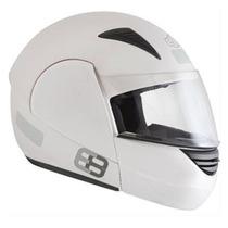 Capacete Ebf E08 Escamoteável Branco - 56