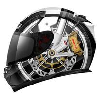 Capacete Mt Helmets Blade Braking Fosco Preto Branco - 58