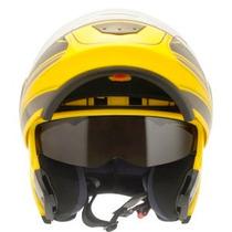 Capacete Moto Articulado Robocop Escamoteável Com Óculos