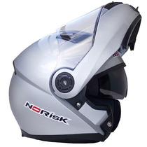 Capacete Norisk Ff370 Robocop - Prata - Tamanho 56