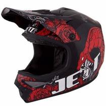 Capacete Jett Veneno Motocross Trilha + Brinde