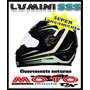 Capacete Evolution Luminosense Ss313 Fluorescente A Noite