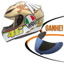 Capacete Agv K3 Chicken Valentino Rossi Dourado 63/64 Rs1