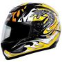 Capacete Motociclista Thh Ts-41#2 Preto / Amarelotam: 60