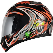 Capacete Norisk Ff391 Savages Gloss Red ***frete Grátis***