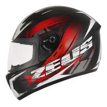Capacete Zeus Zeus 810b J18 Metallic Black/red