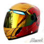 Capacete Moto Homem De Ferro Iron Man Masei - Pronta Entrega