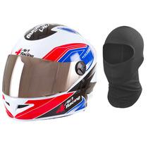 Capacete Pro Tork 4 Racing Com Viseira Extra Cromada + Touca