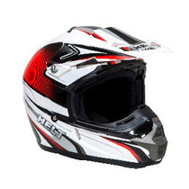 Capacete Motocross Helt New Cross Design Vermelho - Tam 56