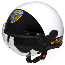 Capacete Kraft Route 66 Sheriff Branco Harley Drag Shadow