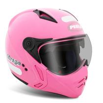 Capacete Moto Peels Mirage C/óculos Fumê Rosa / Preto Fosco