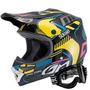 Capacete Moto Pro Tork Squad E Óculos 788 Trilha Motocross
