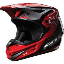 Capacete Fox V1 Race Vermelho Motocross, Motoqueiro, Moto