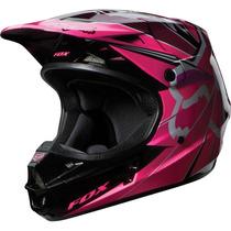 Capacete Fox V1 Radeon Rosa Pink Motocross, Motoqueiro, Moto