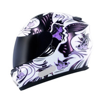 Capacete Mt Buterfly White Pink