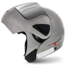 Capacete Moto Escamoteável Robocop Pro Tork V-pro Jet Cinza