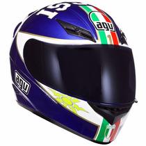 Capacete Agv K-3 Mugello 03 Réplica Valentino Rossi Nº 60/l