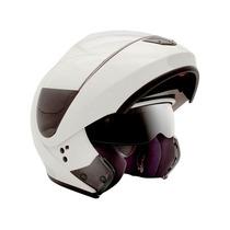 Capacete Peels Urban Articulado Robocop Óculos Fume Branco