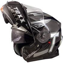 Capacete Moto Texx Blitz Robocop Double Vision Preto Tam: 58