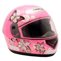 Capacete Feminino Motociclista Peels Spike Butterfly Rosa