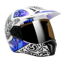 Capacete Moto Bieffe 3 Sport Maori Azul Lançamento 61/62