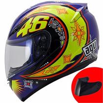 Capacete Agv K-3 Rossi Moto Gp - Brinde Viseira Fumê