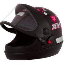 Capacete Pro Tork Sport Moto Fechado Feminino Girls Preto 58