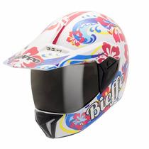 Capacete Bieffe 3 Sport Hawaii Branco É Na Dragon Racing