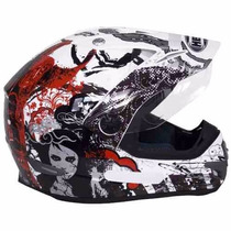 Capacete Helt Cross Vision Red 56