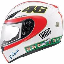 Capacete Motoqueiro Agv K3 Icon Valentino Rossi 46 Pista