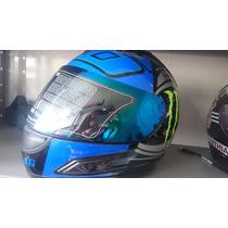 Capacete Monster Df2 Energy Helmet Com Viseira Camaleão