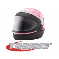 Capacete Taurus San Marino Femme Automático Rosa 56