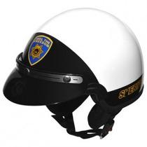Capacete Kraft Plus Route 66 Sheriff Branco Viseira Simples-