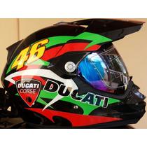 Capacete Cross Ducati Corse 46 C/viseira Helmet