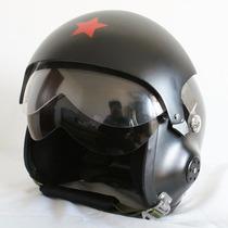 Capacete Piloto Duplo Visor Força Aérea Custom Helmet Motos